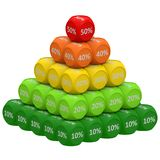 Discount Pyramid Concept 10 to 50 Royalty Free Stock Image