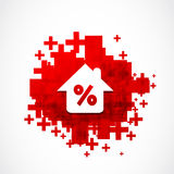 Discount Real Estate Background Royalty Free Stock Images