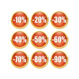 Discount red button Royalty Free Stock Images