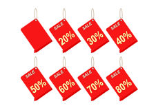 Discount red label on white background. Tag Royalty Free Stock Image