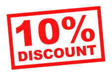 10% DISCOUNT Royalty Free Stock Image