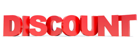 Discount red text Royalty Free Stock Image