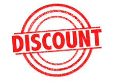 DISCOUNT Rubber Stamp Royalty Free Stock Images