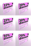 Discount Sale. Discount 3d tags with mirror reflection Royalty Free Stock Photos