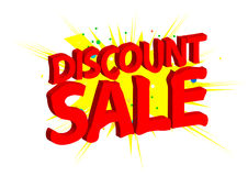 Discount sale. An illustration of the text discount sale on yellow burst pattern Stock Images