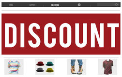 Discount Sale Advertising Marketing Promotion Concept Royalty Free Stock Image