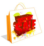 Discount Sale and bag. Sale logo created in illustrator. can use for advertisements Royalty Free Stock Images