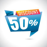 50% Discount Sale Banner Design on white background. sale. Vecto. R Stock Images