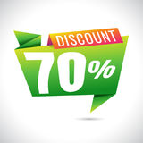 70% Discount Sale Banner Design on white background. sale. Vecto. R Royalty Free Illustration
