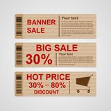 Discount sale banners. Royalty Free Stock Images