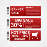 Discount sale banners. Royalty Free Stock Photography