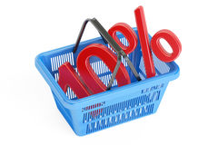 Discount and sale 10% concept, 3D rendering. On white background Royalty Free Stock Image