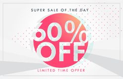 Discount sale and deals banner or voucher template design Stock Images