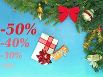 Discount, sale, gift, Merry christmas, HAPPY NEW YEAR Stock Images