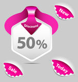 Discount sale labels Royalty Free Stock Images