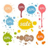 Discount and Sale Labels Stock Photo