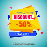 Discount Sale Paper Banner Design. Royalty Free Stock Photography