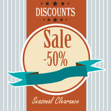 Discount Sale Retro Banner Royalty Free Stock Image