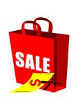 Discount Sale Shopping Bag Royalty Free Stock Images
