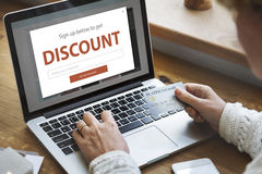 Discount Sale Shopping Online Internet Royalty Free Stock Photography