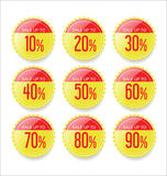Discount sale stickers collection.  Stock Photos