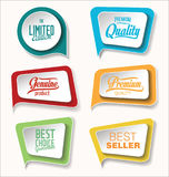 Discount sale stickers collection. Vector Royalty Free Stock Image