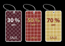 Discount sale tags Stock Photo
