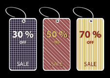 Discount sale tags Stock Photography