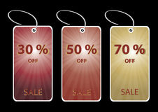 Discount sale tags Royalty Free Stock Photo