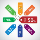 Discount sale tags Royalty Free Stock Photography