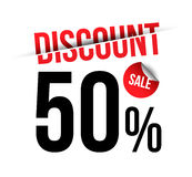 Discount sale text Stock Photo