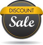 Discount sale web button icon. Vector illustration isolated on white background - discount sale web button icon Royalty Free Stock Photo
