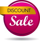Discount sale web button icon. Vector illustration isolated on white background - discount sale web button icon Stock Photography