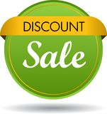 Discount sale web button icon. Vector illustration isolated on white background - discount sale web button icon Stock Photos