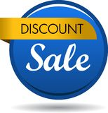 Discount sale web button icon. Vector illustration isolated on white background - discount sale web button icon Stock Images