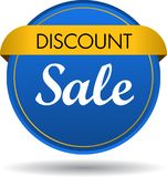 Discount sale web button icon. Vector illustration isolated on white background - discount sale web button icon Royalty Free Stock Image