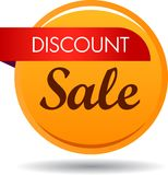 Discount sale web button icon. Vector illustration isolated on white background - discount sale web button icon Royalty Free Stock Photography