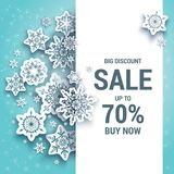 Discount Sale winter card Stock Image