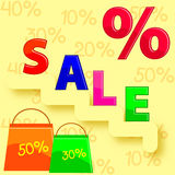 Discount on sale Stock Image