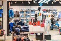 Discount Sales At Adidas Store Royalty Free Stock Image