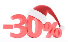 Discount with santa hat Stock Image