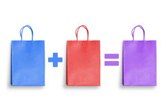 Discount, saving, shopping gift promotion with colorful shopping bags Royalty Free Stock Image