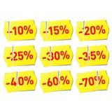 discount set stickers Στοκ Φωτογραφίες