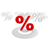 Discount. Several percent signs and one in red Stock Photo