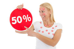 Discount in shop Royalty Free Stock Photo