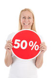 Discount in shop Stock Photo