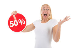 Discount in shop Royalty Free Stock Images
