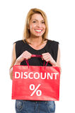 Discount shopping bag Royalty Free Stock Images