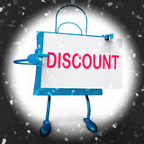 Discount Shopping Bag Shows Markdown Products and Bargains Stock Images