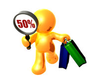 Discount shopping search worldwide. Discount shopping worldwide icon symbol Royalty Free Stock Photos